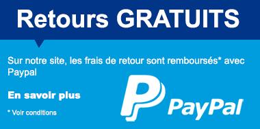En réglant ma commande IziBoy avec Paypal, les frais de retours sont gratuits !