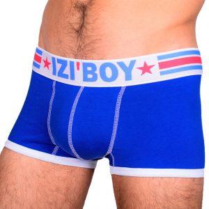 Boxer PUSH UP HOMME IZIBOY bleu rembourré gros paquet avec coque amovible