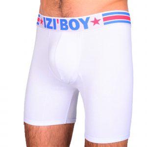 Boxer long PUSH UP HOMME IZIBOY blanc rembourré gros paquet avec coque amovible